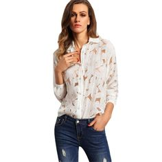 Watch this product and see why millions are pouring in Office Ladies Whi... a great product you can count on here http://www.costbuys.com/products/office-ladies-white-lapel-long-sleeve-buttons-front-sheer-tops-fashion-women-tops-newest-blouse?utm_campaign=social_autopilot&utm_source=pin&utm_medium=pin