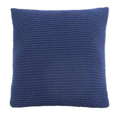 Woven with a chunky knit textured cover in rich navy blue, this Chunky Breckon cushion is machine washable and comes complete filled with a durable polyester hollowfibre inner. Living Room Accessories, Coastal Living Rooms, Soft Furnishings, Playroom, Weaving, Cushions, Throw Pillows, Knitting, Furniture