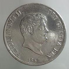 Attualmente nelle aste di #Catawiki: Regno delle Due Sicilie - Piastra da 120 Grana 1857 Ferdinando II - argento
