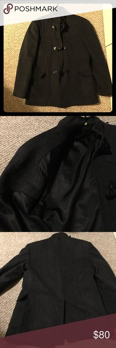 Boutique made Pea Coat Worn only once with a suit. Grey and black pea coat. Perfect for the winter season. Very warm! Looks good with/out suit. Jackets & Coats Pea Coats