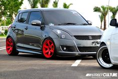 -diff color for the mags Suzuki Swift Tuning, Suzuki Swift Sport, New Swift, Suzuki Cars, Bike Pic, Audi Cars, Japanese Cars, Modified Cars, Car Girls