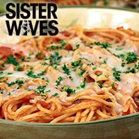 Janelle\'s one pot spaghetti is a great pasta dish from Sister Wives. Learn to make Janelle\'s one pot spaghetti with this recipe from TLC Cooking.