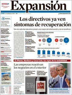 Los Titulares y Portadas de Noticias Destacadas Españolas del 2 de Septiembre de 2013 del Diario Expansión ¿Que le pareció esta Portada de este Diario Español?