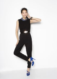 3.1 Phillip Lim Jumpsuit - pretty blue shoes