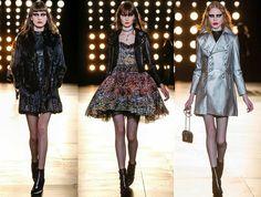 Hily Designs: Saint Laurent muestra un estilo de princesa del rock and roll en su colección otoño-invierno 2015