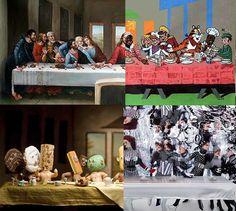 Over 60 Fine Art and Pop Culture Interpretations of Da Vinci's The Last Supper.