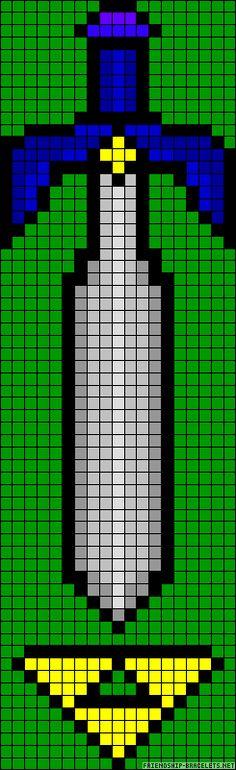 Zelda sword perler bead pattern