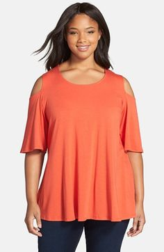 Chalet 'Daisy' Cold Shoulder Top (Plus Size) available at #Nordstrom