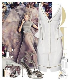 """""""Cloud of romance"""" by eleonoragocevska ❤ liked on Polyvore featuring Monsoon, Chanel, Calvin Klein Underwear, Yves Saint Laurent, Givenchy, Tom Ford, Sergio Rossi, Betsey Johnson and Forzieri"""