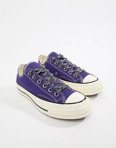 big sale 8ea4d 66f3d Converse Chuck 70 ox vintage canvas purple sneakers