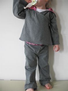 Comfy Yoga Suit pattern and tutorial 12M-5T epattern pants and top sweater PDF by Heidi and Finn on Etsy