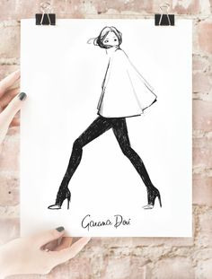 Love that Garance Dore's sketches are now available in poster format! This one could find a home on my wall...