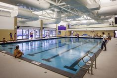 Community pool at Niles North High School Aquatics Center