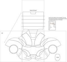 Iron Man 4 Costume Helmet DIY: Cardboard (with template) | Pinterest ...