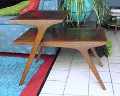1960 Atomic John Van Koert Drexel Side Step Table by fifisfinds