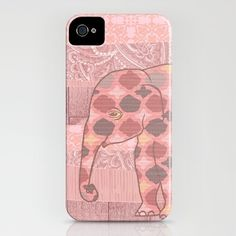 Bohemian Pink Elephant iPhone Case by ElephantTrunkStudio - $35.00 #pink #elephant #iphone