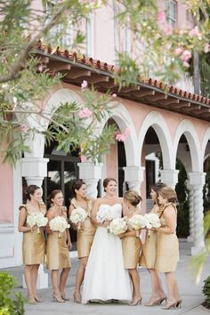 Gold Bridesmaids Dresses 1