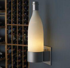 Acessórios do vinho – Wine Bottle Wall Sconce « Vino Divino Vino