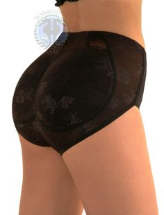 Black padded lace panties:    http://www.amazon.co.uk/SODACODA-Padded-Buttocks-Pants-Control/dp/B00ADPQLBY/ref=sr_1_15?ie=UTF8=1359118676=8-15