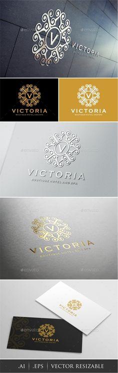 Victoria - Boutique Hotel Spa Logo Template #design #logotype Download: http://graphicriver.net/item/victoria-boutique-hotel-spa-logo/12777587?ref=ksioks