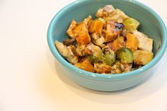Balsamic Chicken Casserole with Sweet Potatoes and Brussels Sprouts