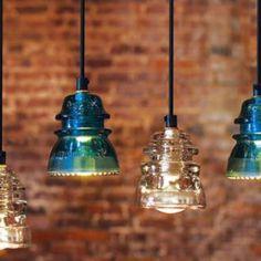 Vintage insulator lighting