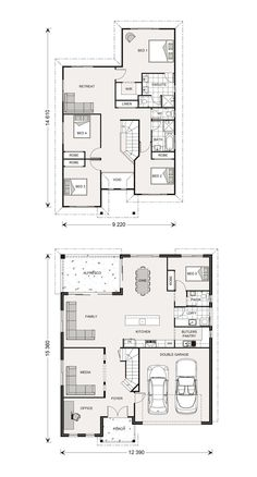 Perfect for for Abbott block Twin Waters Home Designs in New South Wales 5 Bedroom House Plans, Beach House Plans, Dream House Plans, Modern House Plans, House Floor Plans, Double Storey House Plans, Double Story House, Dream Home Design, Home Design Plans