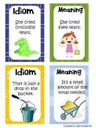 Idioms Examples For Kids Images & Pictures Good Idioms, Idioms Words, Idioms And Phrases, Teaching 5th Grade, 4th Grade Classroom, Classroom Ideas, Writing Lessons, Writing Activities, English Vocabulary