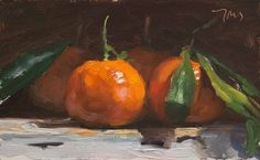 daily painting titled Clementines - click for enlargement