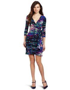 BCBGMAXAZRIA Women's Adele Petite Printed Wrap Dress « Clothing Impulse