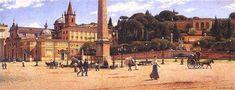 Aleksander Gierymski, Piazza del Popolo in Rome, 1900–1901