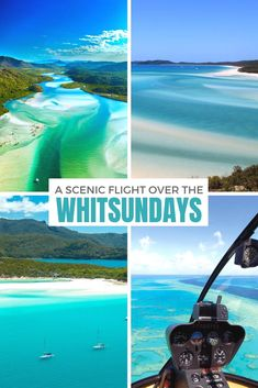 A scenic flight over Australia's Great Barrier Reef and spectacular Whitehaven Beach is the best way to experience a Whitsunday Islands tour. Brisbane, Melbourne, Sydney, Coast Australia, Visit Australia, Australia Travel, Australia Tours, Scuba Diving Australia, Island Tour