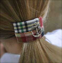Madras Anchor Ponytail Cuff. Uh. Need.