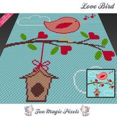 Love Bird (sc tss c2c cross stitch) | Craftsy