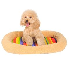 Doggy PadNeartime Pet Bed Kennel Cat Cushion Big Dog Comfort Colorful Stripes Houses XS *** You can get more details by clicking on the image. (This is an affiliate link)