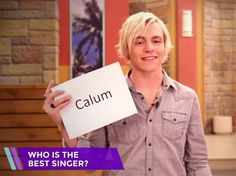 """Haha The question where it says """"Who's the biggest flirt"""" and Laura answers with Ross and Calum i sort of died because She said Ross and I want to know how he's the biggest flirt"""
