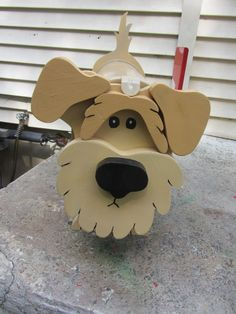 Custom functional mailbox made to look like a Fox Terrier. We can custom paint the dog to match yours. It is designed over a approved metal mailbox. It has a functional flag. Diy Mailbox, Metal Mailbox, Wooden Crafts, Paper Crafts, Homemade Bird Houses, Custom Mailboxes, Wood Craft Patterns, Small Wood Projects, Wood Dog