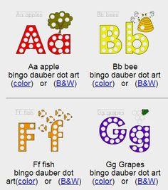Bingo Dauber Alphabet Coloring Pages