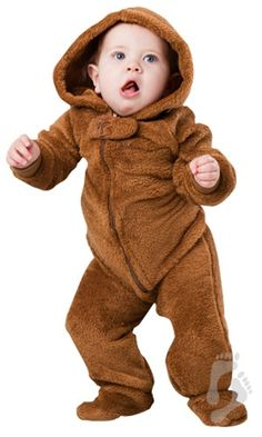 Teddy Bear Hoodie One Piece - Infant Hooded Footed Pajamas  b6de681e5