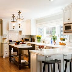 Large Galley Kitchen Peninsula Design Ideas, Pictures, Remodel and Decor