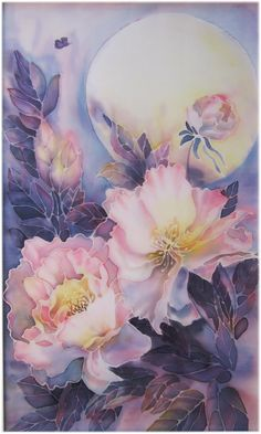 Original Silk Painting SOLD  copy Possible  by SilkPaintingAu