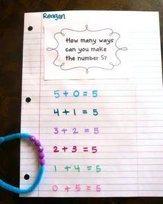 number bracelets - A really fun way to teach addition.plus a freebie Math in Focus number bonds Math Classroom, Kindergarten Math, Teaching Math, Math Teacher, Preschool, Math Stations, Math Centers, Math Resources, Math Activities
