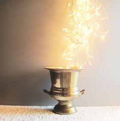 SOLD ~Large Vintage Brass Trophy Style Urn~ Ice Bucket