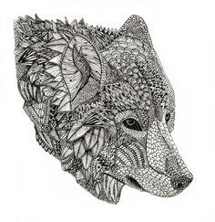 Native American symbol wolf