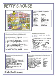 BETTYS HOUSE/ Prepositions of place