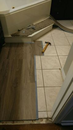 I did this myself, Vinyl plank flooring over tile