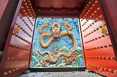 Gate opening to a Chinese dragon