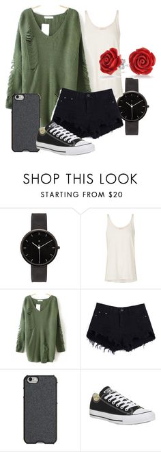 """Summer night"" by carlie-smith-i on Polyvore featuring I Love Ugly, sass & bide, Agent 18, Converse and Bling Jewelry"