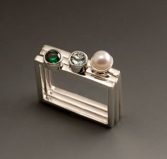 Sterling Silver Stacking Square Rings Custom by JenLawlerDesigns, $315.00