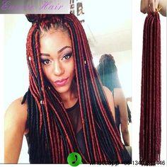 "Fashion African Black Women's braids hairstyles 14"" 18"" Soft Dreadlocks Twist Curl Hair Weaving Extension Synthetic Hair"